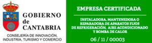 Empresa certificada por el Gobierno de Cantabria